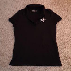 NIKE Dallas Stars dri-fit womens golf tee, sz LG